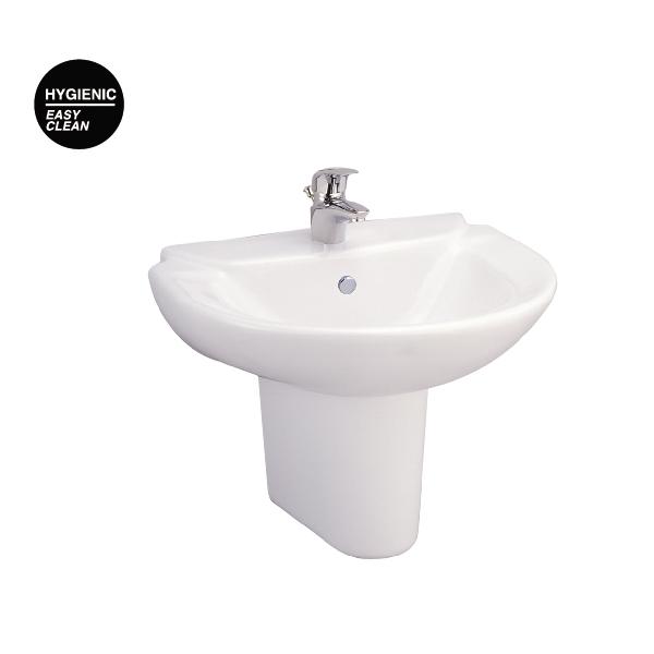 Chậu rửa treo tường chân ngắn C0237-C4201