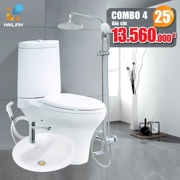 Combo thiết bị vệ sinh Cotto+Belli 04