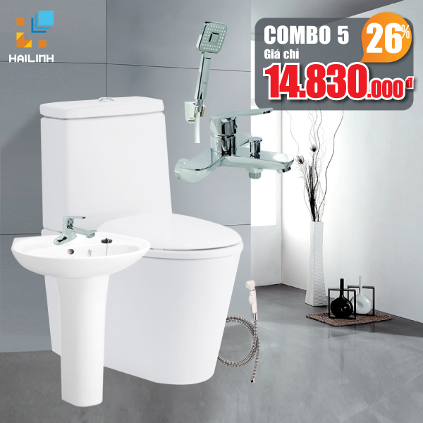 Combo thiết bị vệ sinh Cotto+Belli 05
