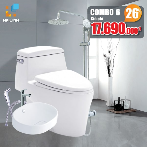 Combo thiết bị vệ sinh Cotto+Belli 06