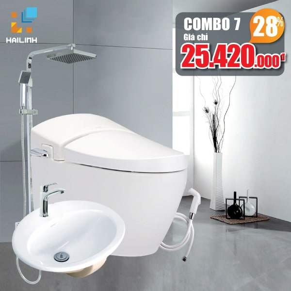 Combo thiết bị vệ sinh Cotto+Belli 07